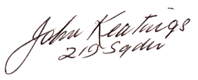 Autograph of John Keating
