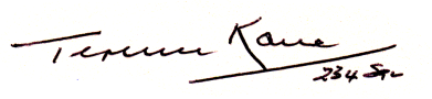 Autograph of Terence Kane